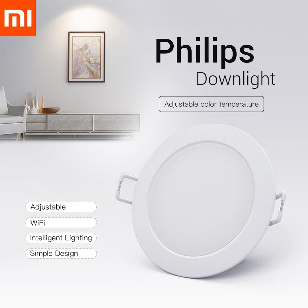 Original Xiaomi Smart Downlight Philips Zhirui Light 220V 3000 - 5700k Adjustable Color Ceiling Lamp