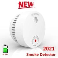 Newest Smart Smoke Alarm Detector High Sensitive Built-in Lithium Battery Voice Alarm Warn Sensor Smart Home Security Protection