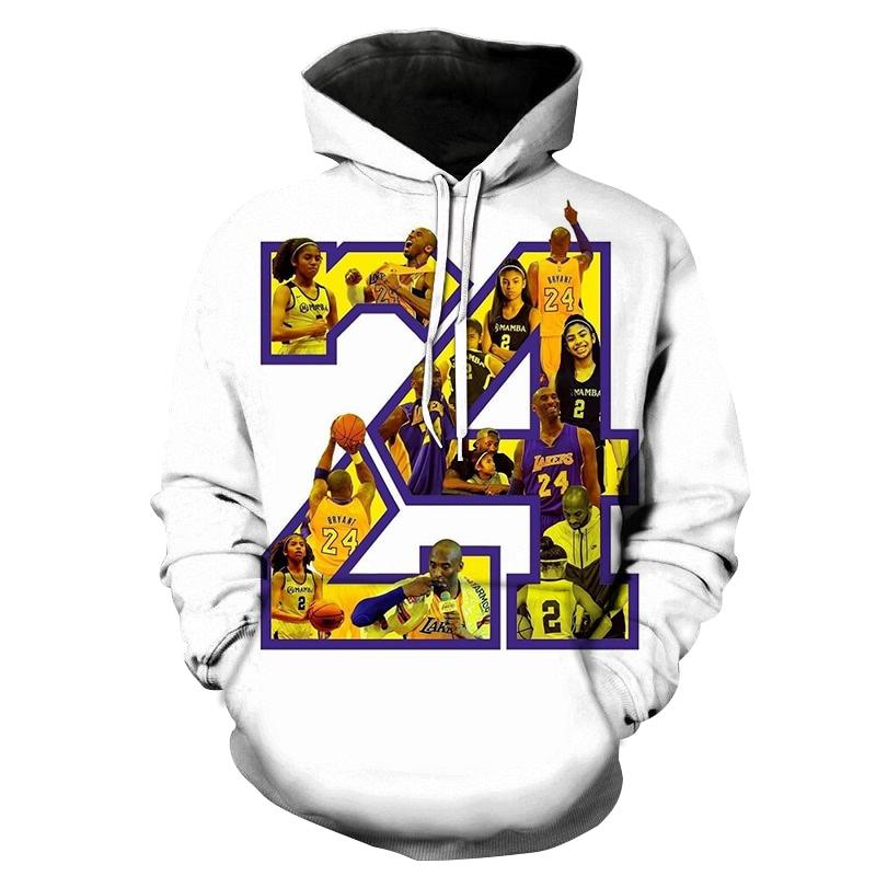 Hot Sale 3D Basketball Star Hooded Male White Hoodie Men Print Street Style Sweatshirt Fashion Casual Oversize Hoodies Unisex