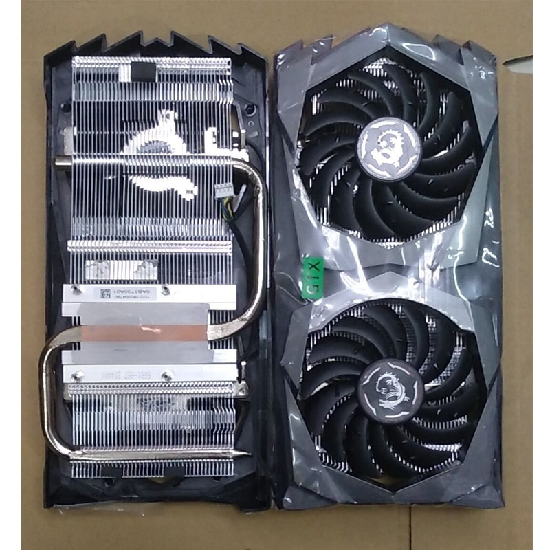DIY Cooling GPU Used graphics card radiator For MSI GTX1650 Gaming X 4G  4pin Installation size 43*43mm heat sink