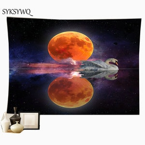 moon wall hanging large tapestry boho style home decor carpet wall cloth witchcraft psychedelic blanket