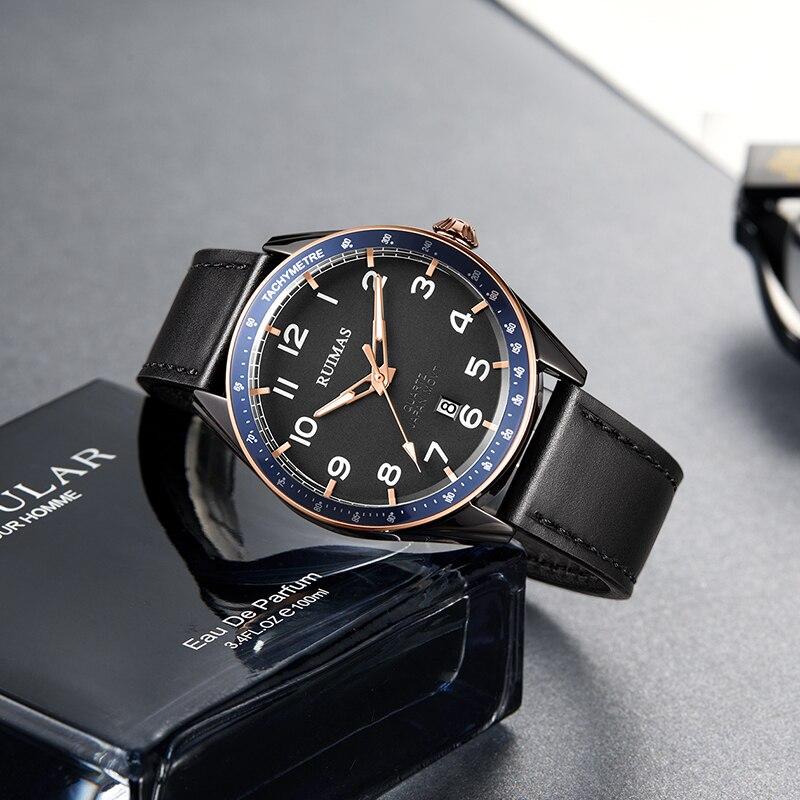 Оригинальные мужские часы Remas автоматические механические часы деловые мужские водонепроницаемые модные часы с отверстиями трендовые час...