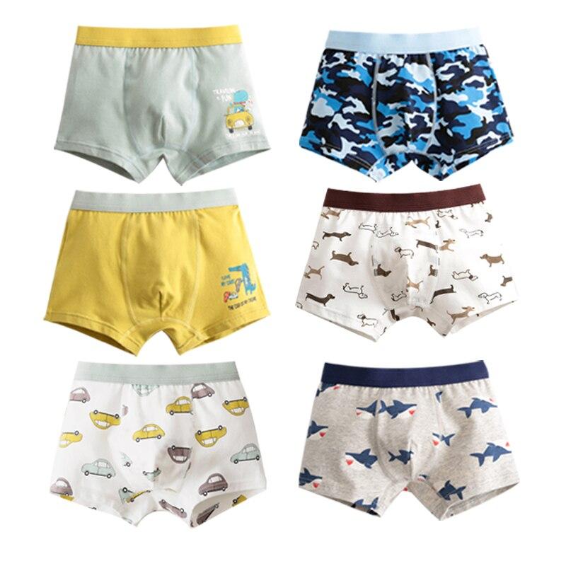 Boxers de algodón para niños y adolescentes de 2 a 16 años, ropa interior para niños, bragas para adolescentes, bragas para niños