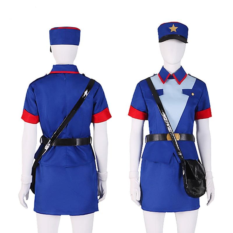 Oficial Jenny disfraz Cosplay para mujer azul lindo traje Top + falda + + sombrero + bolsa Anime Halloween uniformes para carnaval de