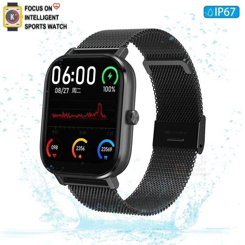 Reloj inteligente DT35 2020 ECG PPG + HRV tecnología de medición Bluetooth llamada reloj inteligente hombres mujeres Smartwatch GTS pk P8 apple Watch