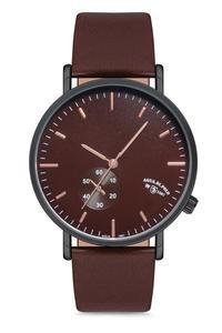 2020 Топ Роскошные брендовые Модные мужские коричневые кожаные кварцевые наручные часы APWA028304 Aqua di поло 1987