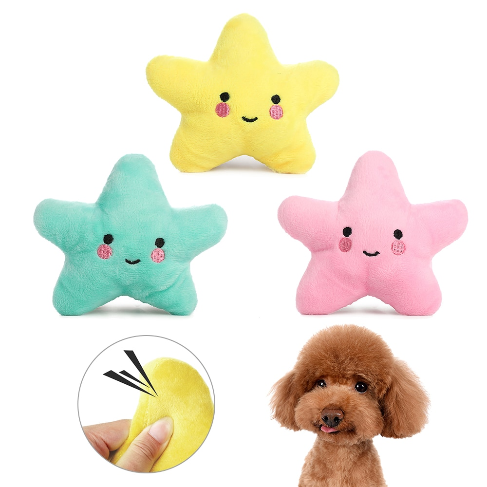 PAPASGIX 2020 gran oferta juguete para perros con sonido de felpa pentagrama juguete para mascotas diámetro 13cm