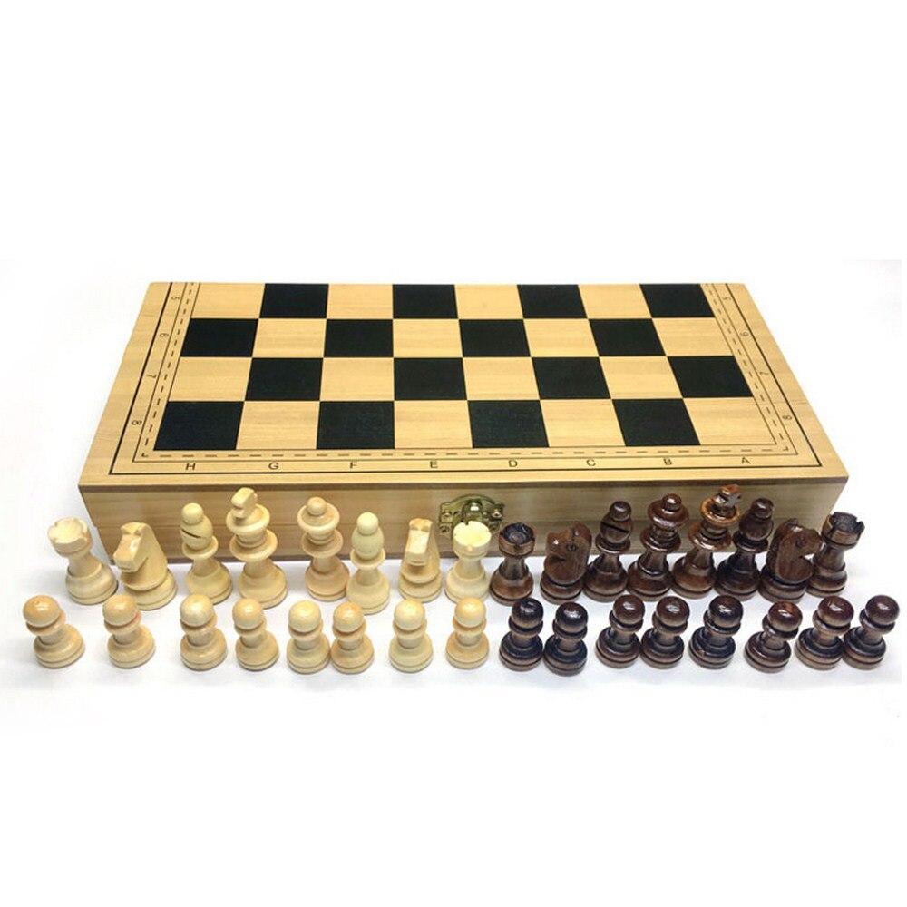 Деревянная шахматная доска, шахматы из массива дерева, складная шахматная доска, Высококачественная головоломка, шахматная игра, развлечен...
