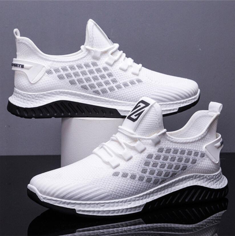 2021Men Casual Shoes mesh Breathable men Sports Shoes Flying woven Travel shoes Coconut shoes fashion Men Sneakers running shoes