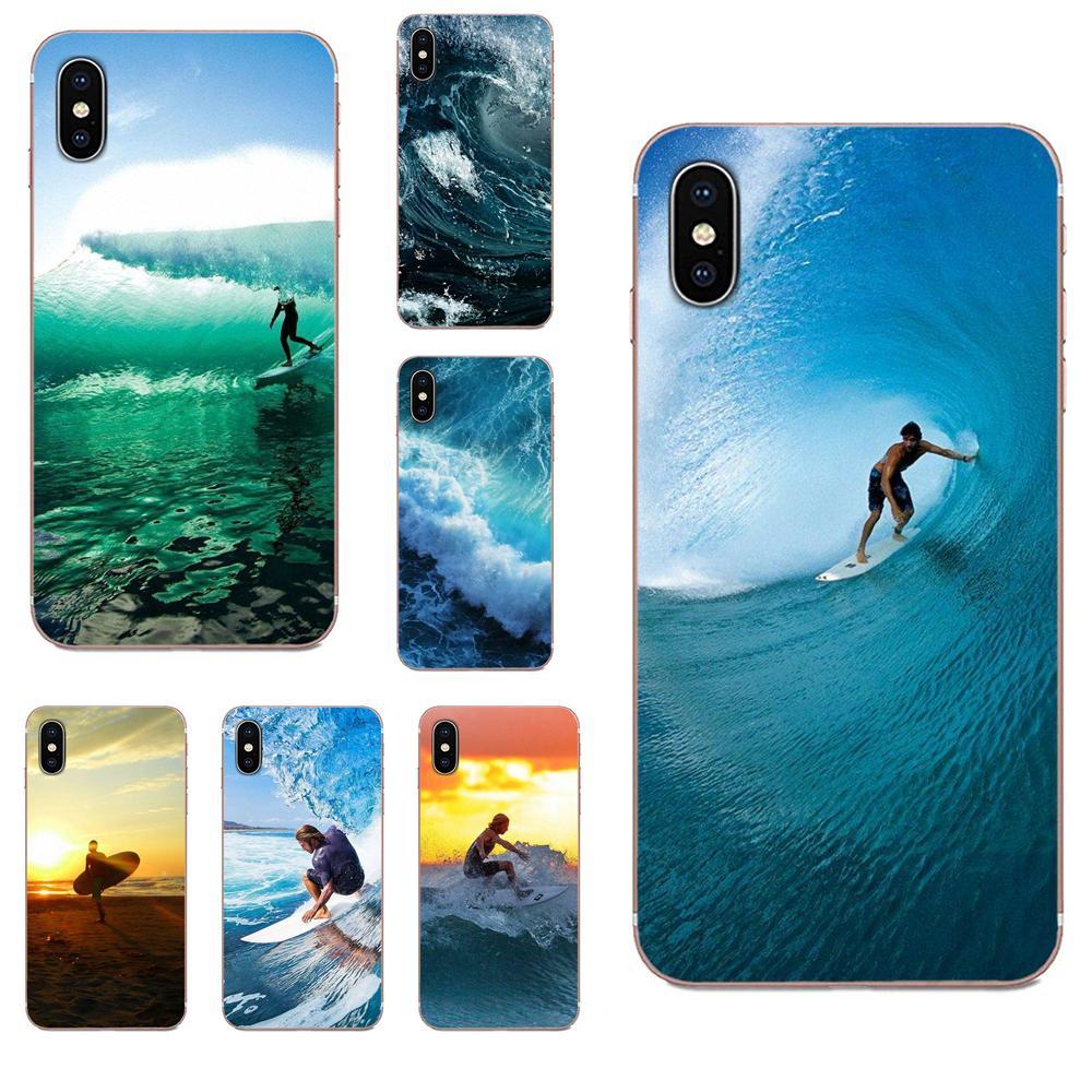 TPU Coque de moda caliente dinámico del mar onda Surf para Huawei Nova 2 V20 Y3II Y5 Y5II Y6 Y6II Y7 Y9 G8 G9 GR3 GR5 GX8 primer 2018 de 2019