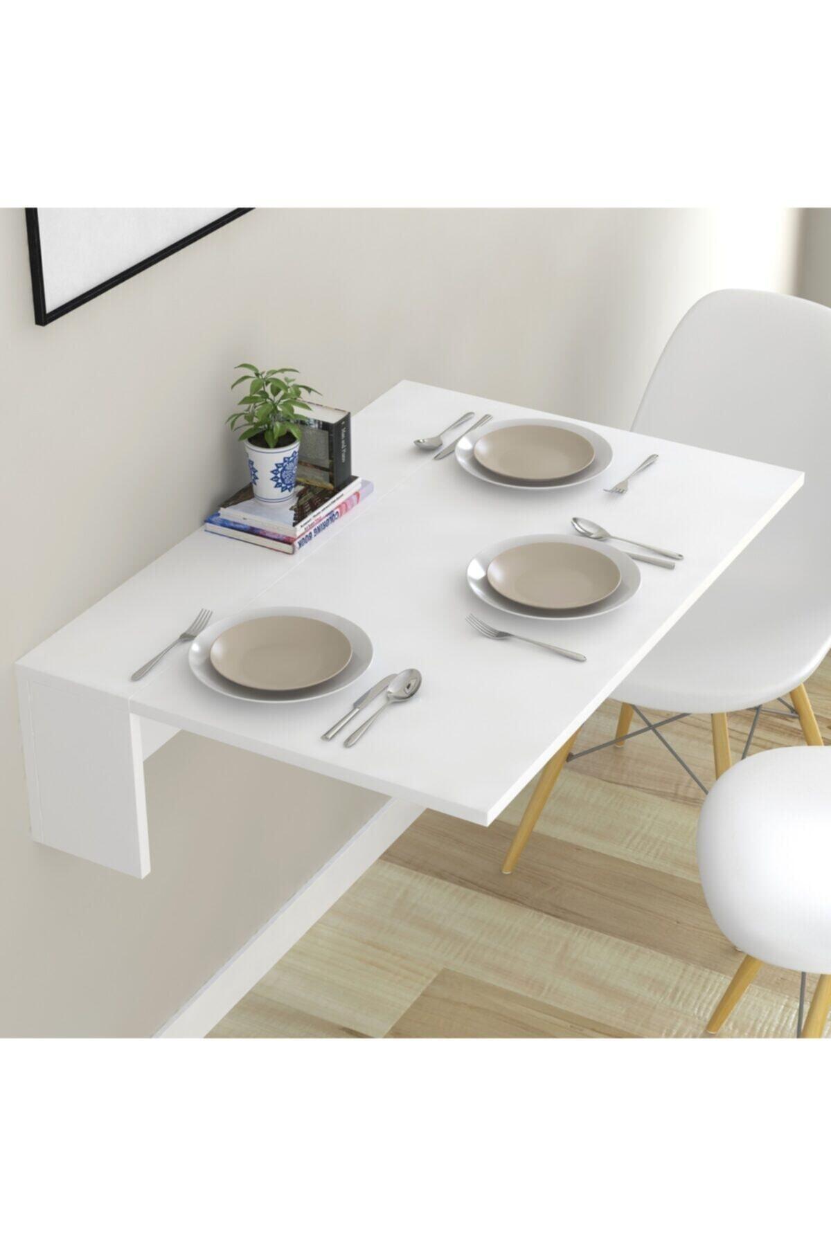 طاولة قابلة للسحب مع رف أبيض