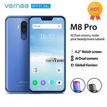 Vernee M8 Pro 6.2 노치 스크린 스마트 폰 6GB 64GB 안드로이드 8.1 옥타 코어 핸드폰 4100mAh AI 듀얼 카메라 고속 충전 전화