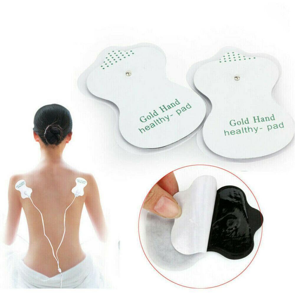 1 par de almohadillas Extra adhesivas de Gel para electrodos, unidades Tens, pegatinas para Electro, parche adelgazante para máquina eléctrica masajeadora de terapia corporal