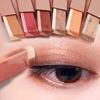 double color glitter eyeshadow stick gradient matte eyeshaw makeup waterproof bicolor shimmer cosmetics beauty makeup tool