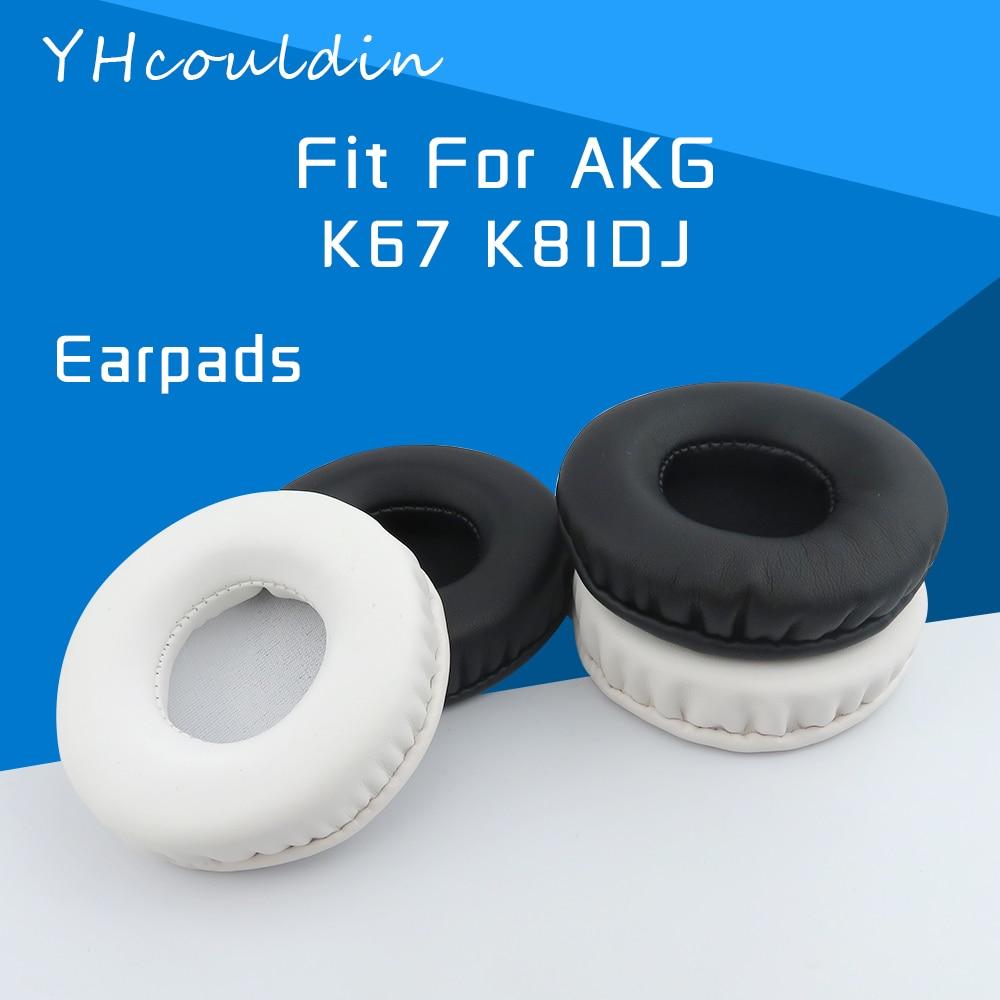 YHcouldin-almohadillas para auriculares AKG K67 K81DJ, accesorios de repuesto de cuero arrugado