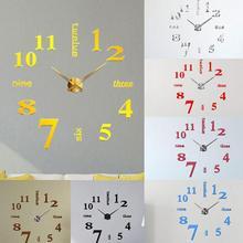 Reloj de pared magnético DIY creativo 3D acrílico decorativo cocina pared Relojes sala comedor decoración del hogar Wallclock