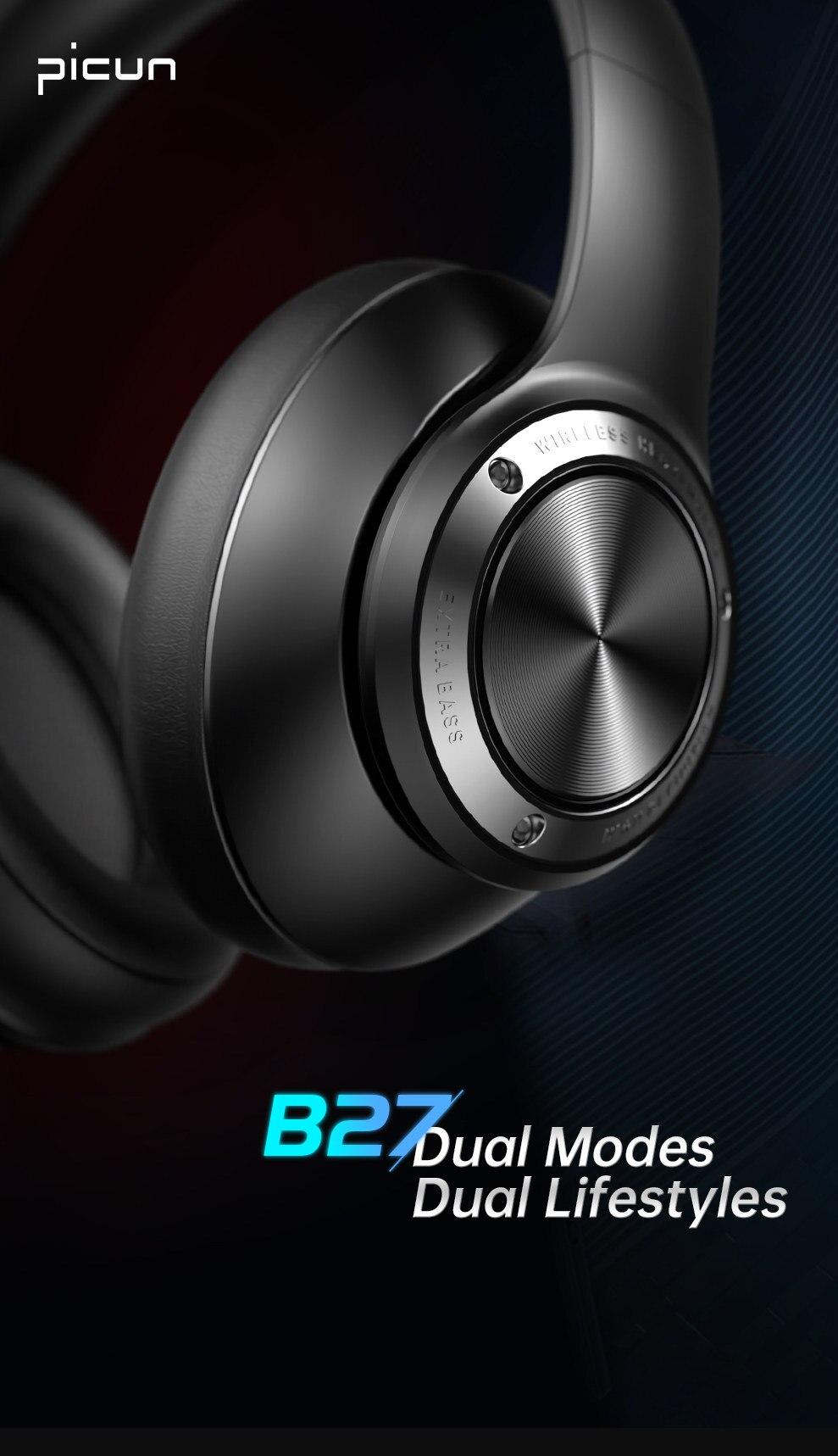 B27 sem fio bluetooth 5.0 fones de
