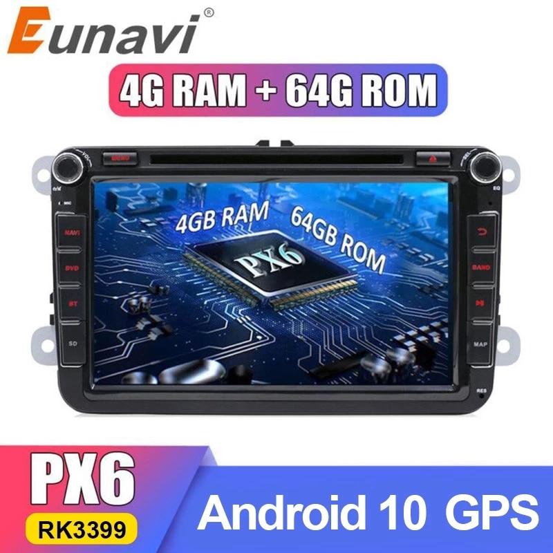 Eunavi PX6 DSP 2 Din Android Car DVD For VW GOLF 5 6 Passat B6 B7 CC Polo Touran T5 Skoda Octavia Tiguan Amarok GPS Radio Player