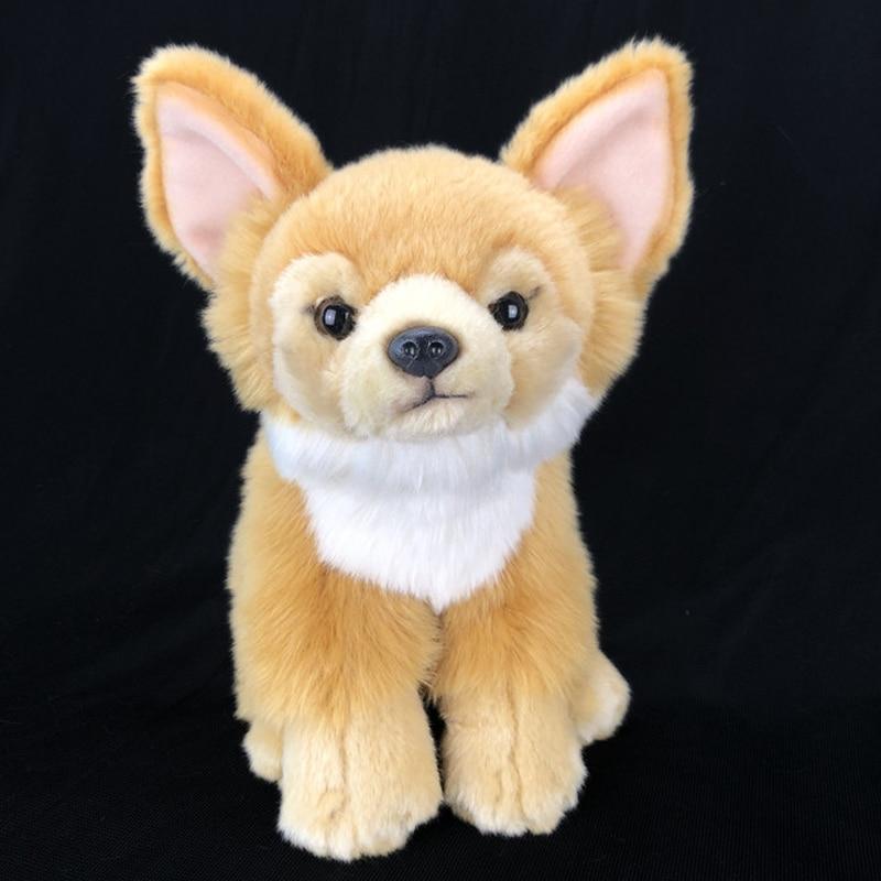 BOLAFYNIA Simulation Chihuahua dog doll children plush toy dog baby kid Stuffed toy animals gift