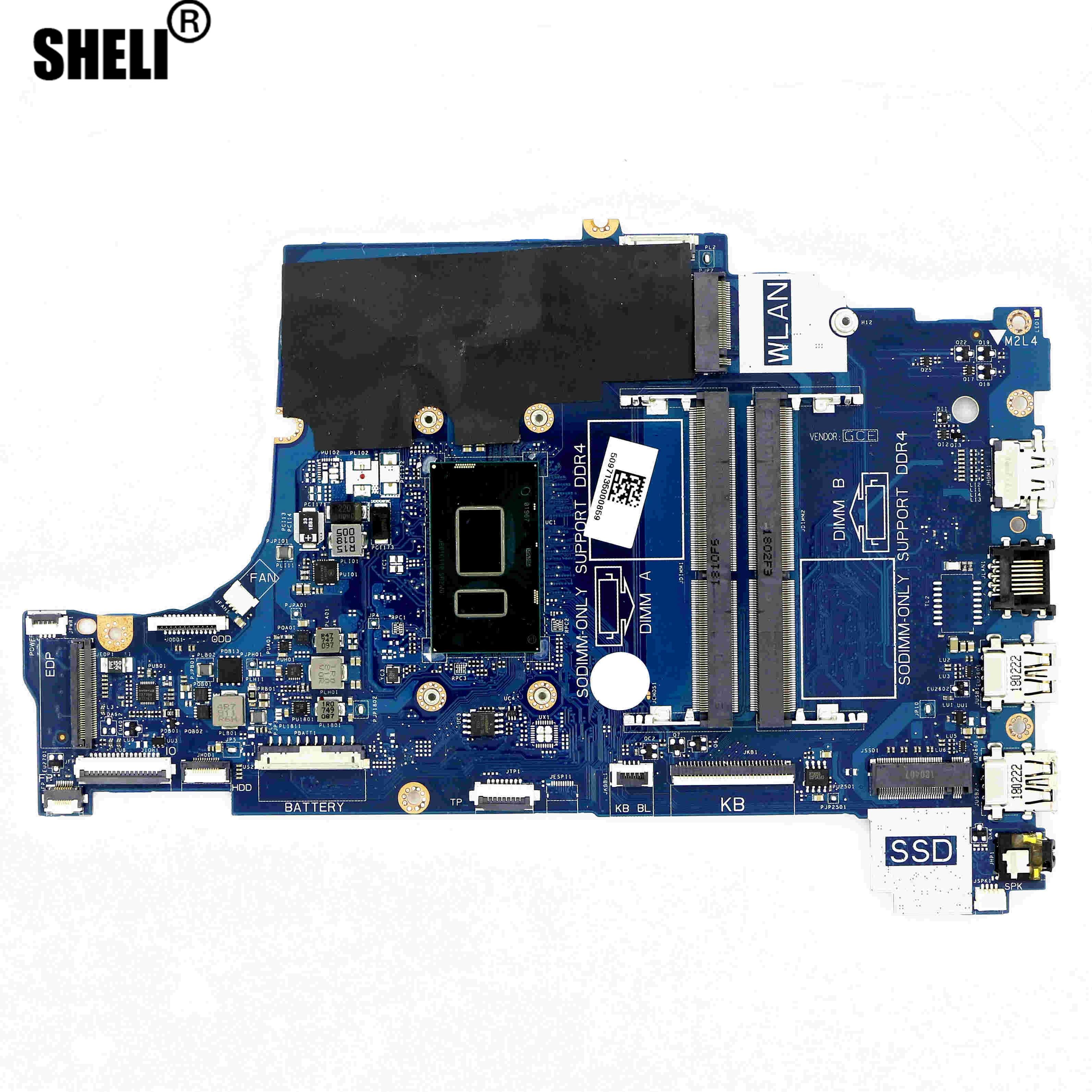 H0WK9 - UMA DDR4 материнская плата CAL60 LA-F114P w/ i3-8130U 2,2 GHz для DELL Inspiron 15 (5570) / 17 (5770)