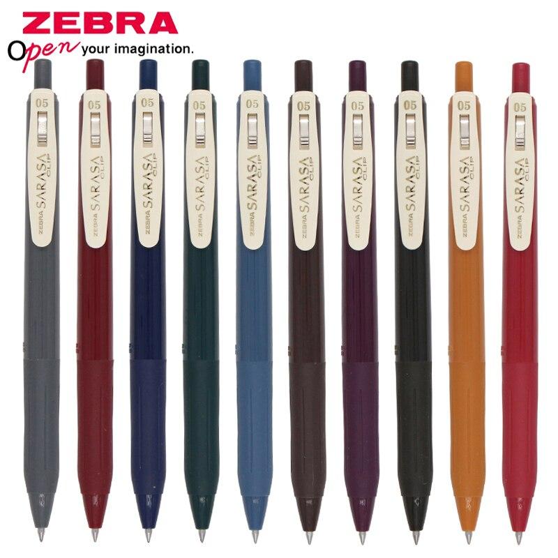 1 Uds. Bolígrafo de gel japonés ZEBRA SARASA JJ15 color retro 0,5mm Edición Limitada pluma de velocidad seca anti-fatiga sin fugas pluma de firma de tinta