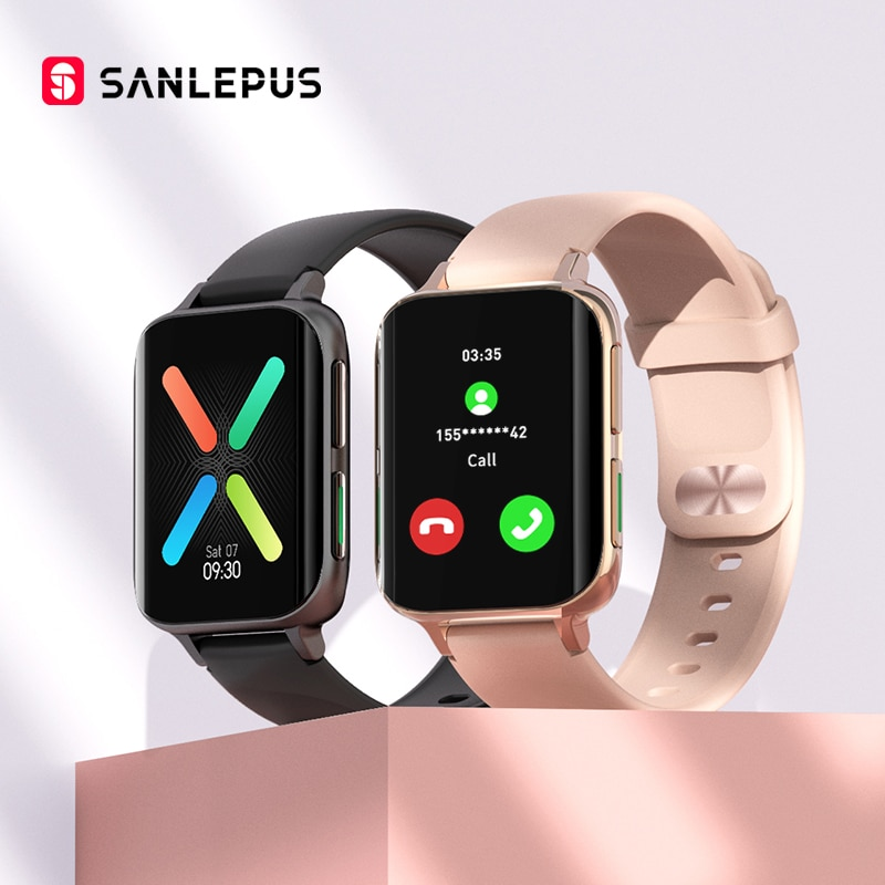 2021 SANLEPUS جديد ساعة ذكية الرجال النساء الاتصال الهاتفي ساعة مقاوم للماء Smartwatch مشغل MP3 ل ممن لهم أندرويد iOS شاومي هواوي