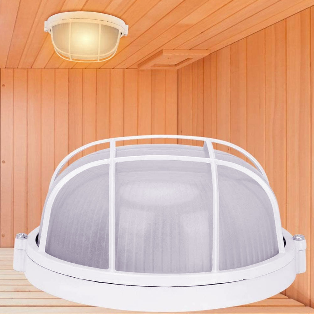 Anti-High Temperature Round Lamp Sauna Room Light Explosion Proof Waterproof Ceiling Light Khan Steam Room Accessories