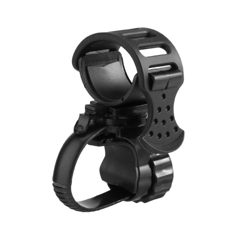 Soporte de lámpara de bicicleta soporte para linterna ajustable 360 grados rotación negro conducción al aire libre accesorios de ciclismo