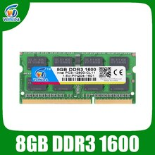 VEINEDA DDR3 8gb Ram Sodimm ddr 3 4gb 1600 1333MHZ 204pin 1.5 فولت إنتل AMD محمول ذاكرة عشوائية