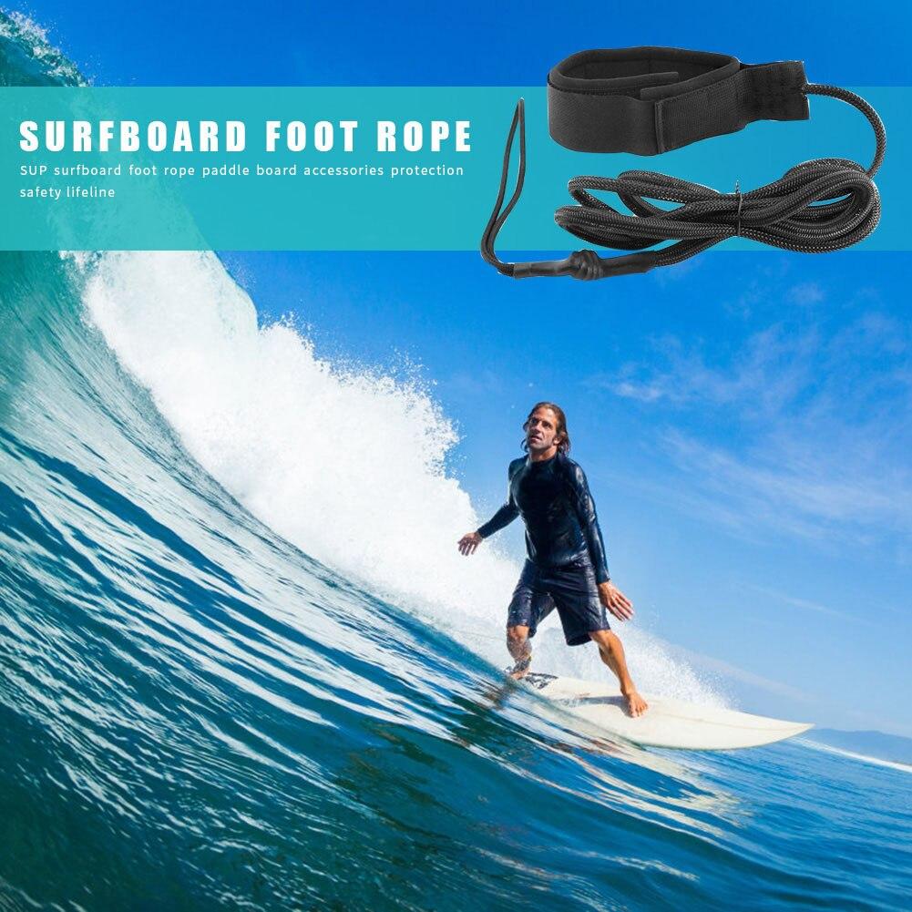 7 pies tabla de Surf Durable Correa enrollada tobillo ajustable puño tabla de Surf correa de pie de pierna Sup tabla de Surf para Stand Up Paddle