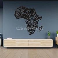 africa tatoo mask tribe man wall decal vinyl decor home decoration room stickers fallen warriors deepsoul