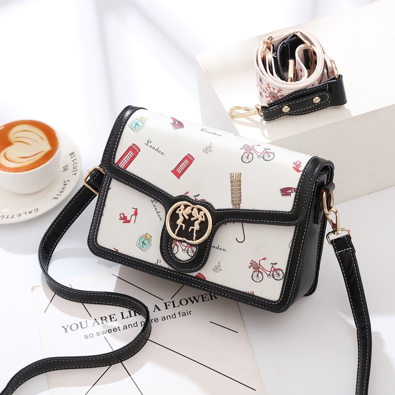 DN Panelled Crossbody Bags for Women Fashion Shoulder Bags Square Envolope Women's Bags 2021 Trend W