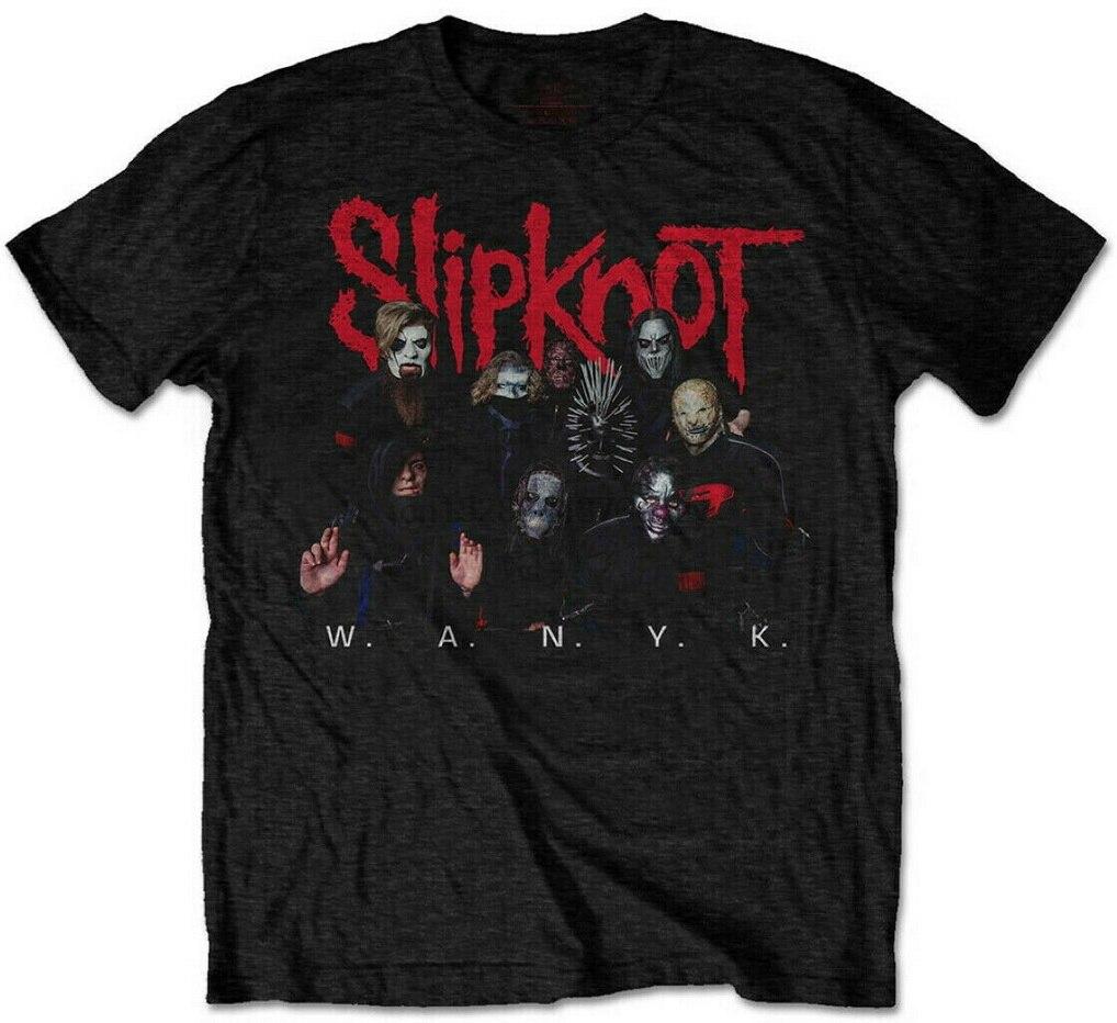 Slipknot WANYK Logo camiseta S-XXL banda de Metal camiseta oficial nueva camiseta de alta calidad Casual impresión