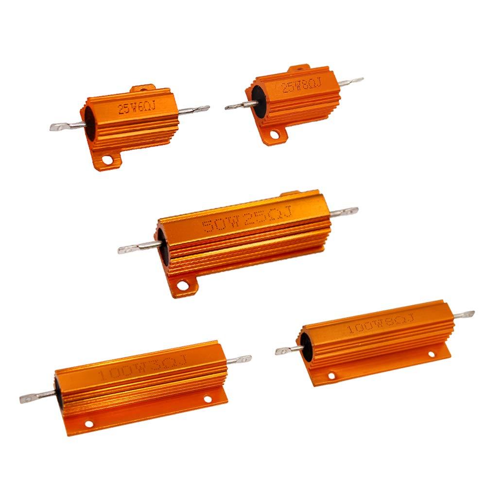 10 шт./лот 25 Вт 50 Вт 100 Вт автомобильный нагрузочный резистор светодиодный фонарь заднего тормоза поворота комплект проволочного сопротивлен...