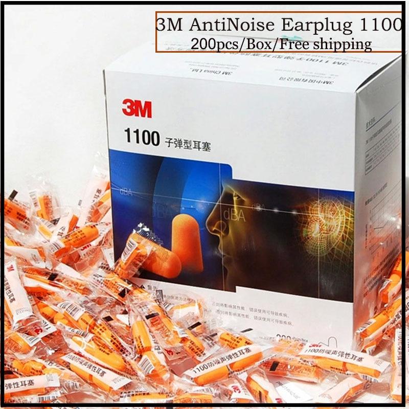 3M 1100 tipo de bala tapones para los oídos de espuma Anti-ruido...
