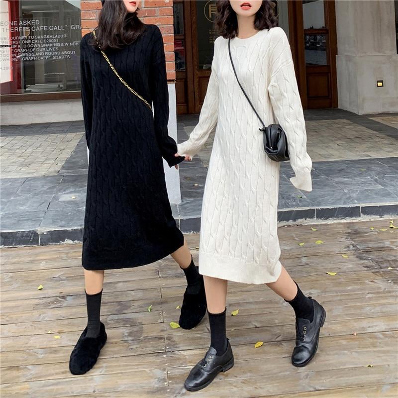 Hacer ofrece la firma de la edición de han giro fácil de punto suéter de punto vestido de, vestido de mujer