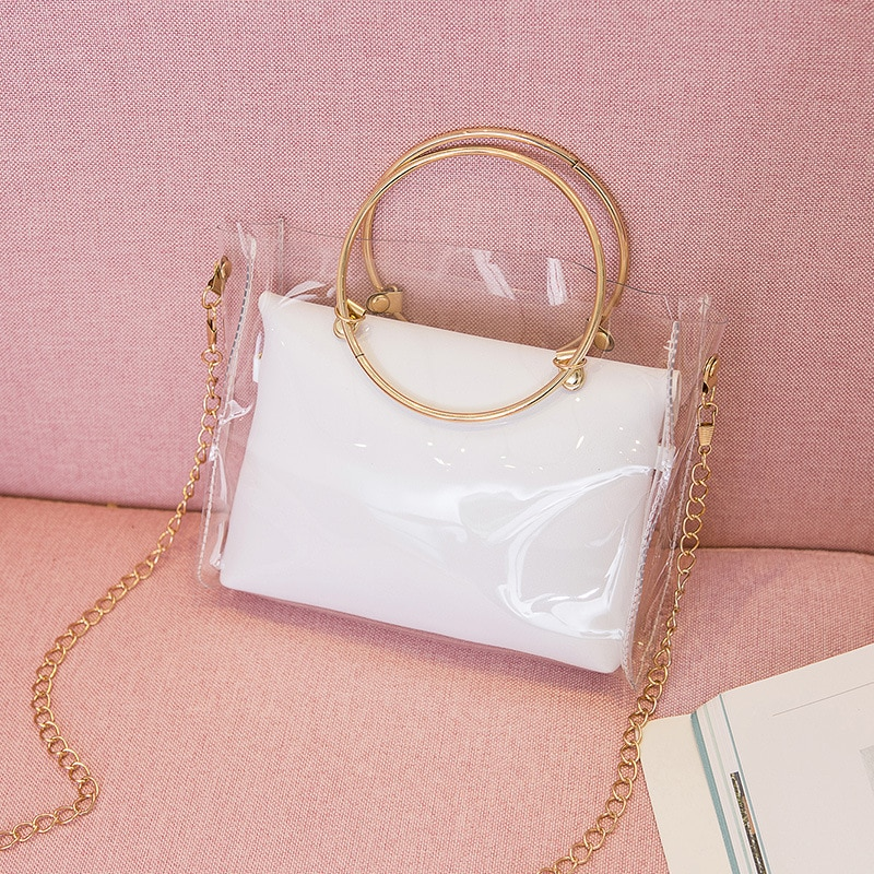 2020 Spring Summer Ms. Bucket Chain Shoulder Bag Defining a Transparent New Circle Laptop Bag Messager Crossbody Bag