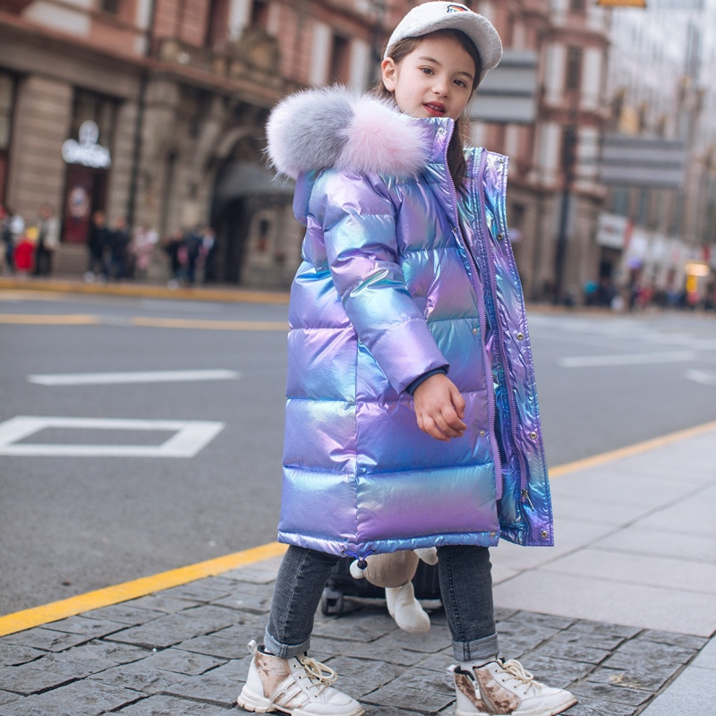 2020 Girls Winter Colorful Bright Warm Down Padded Jacket Coat