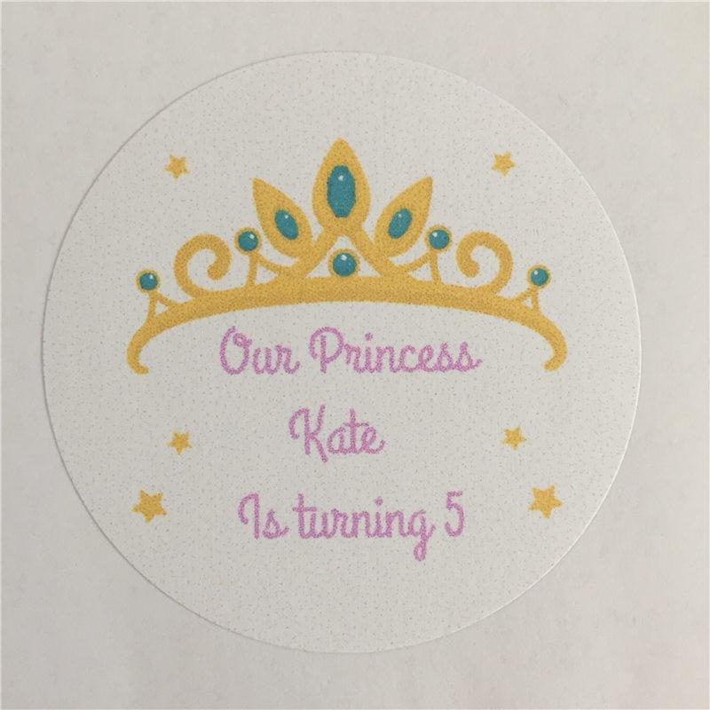 м мадера долина эдельвейсов и день рождения принцессы Наклейки на день рождения в виде короны принцессы, 100 шт.