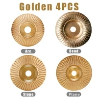 4pcsset wood grinding polishing wheel rotary disc sanding wood carving tool abrasive disc tools for angle grinder 4inch bore
