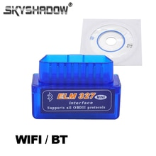 Bluetooth ELM327 Bluetooth ELM327   WIFI sans fil, OBD2, Instrument dessai des véhicules, fonctionne sur Iphone Android, couple ELM327, sur la voiture, lecteur DVD