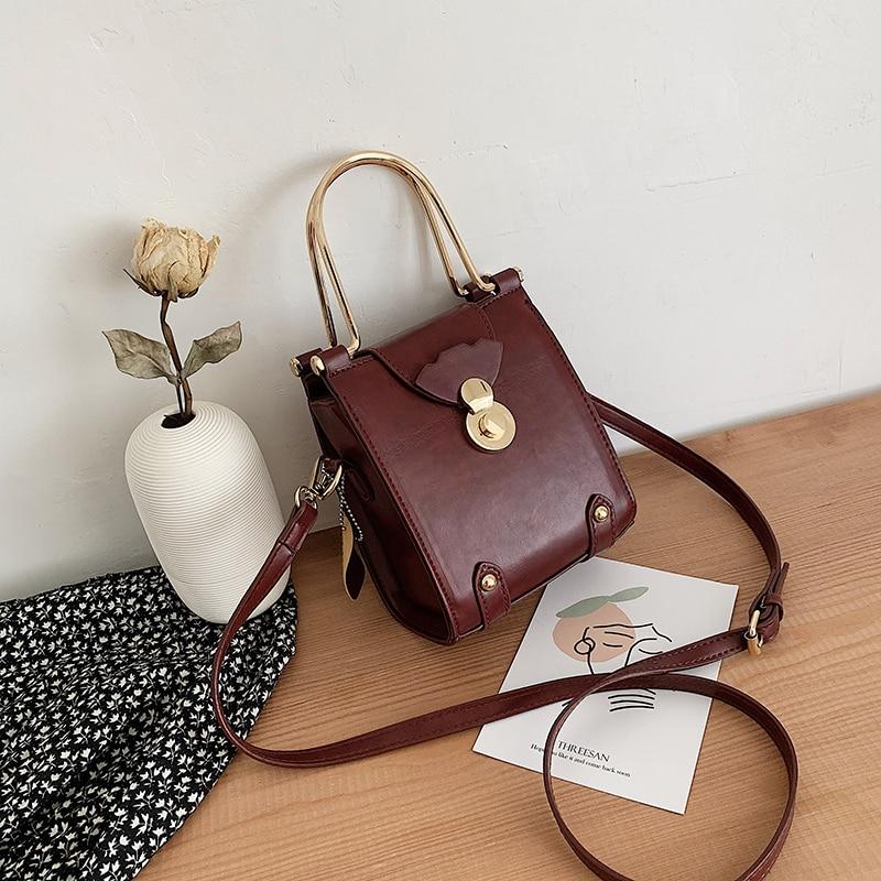 Ir hacia arriba nueva simple sentido pequeño bolso femenino 2020 moda han edición 100 tomar bolsa cruzada para restaurar maneras antiguas temperamento