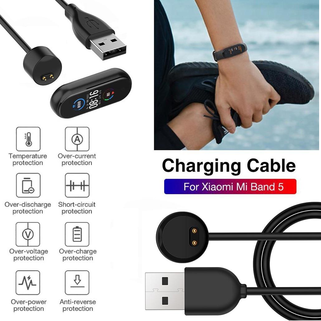 Cargador de Cable USB para pulsera Xiaomi Mi Band 5, cargador de...