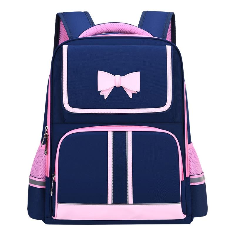 Рюкзак для девочек, водонепроницаемый ортопедический рюкзак черного цвета для девочек