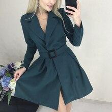 Vintage A-Line vestido con cinturón de manga larga con cuello en V Sexy vestido de fiesta para mujer ropa 2020 invierno otoño vestido de Mujer Vestidos Mini