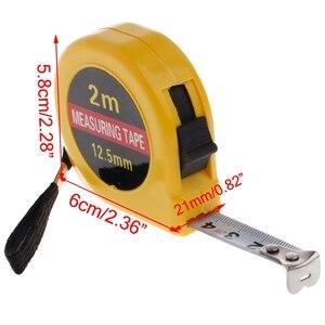 Mini Pocket 2m Retractable Tape Measure Ruler Tool Builders Home DIY Garage Rule