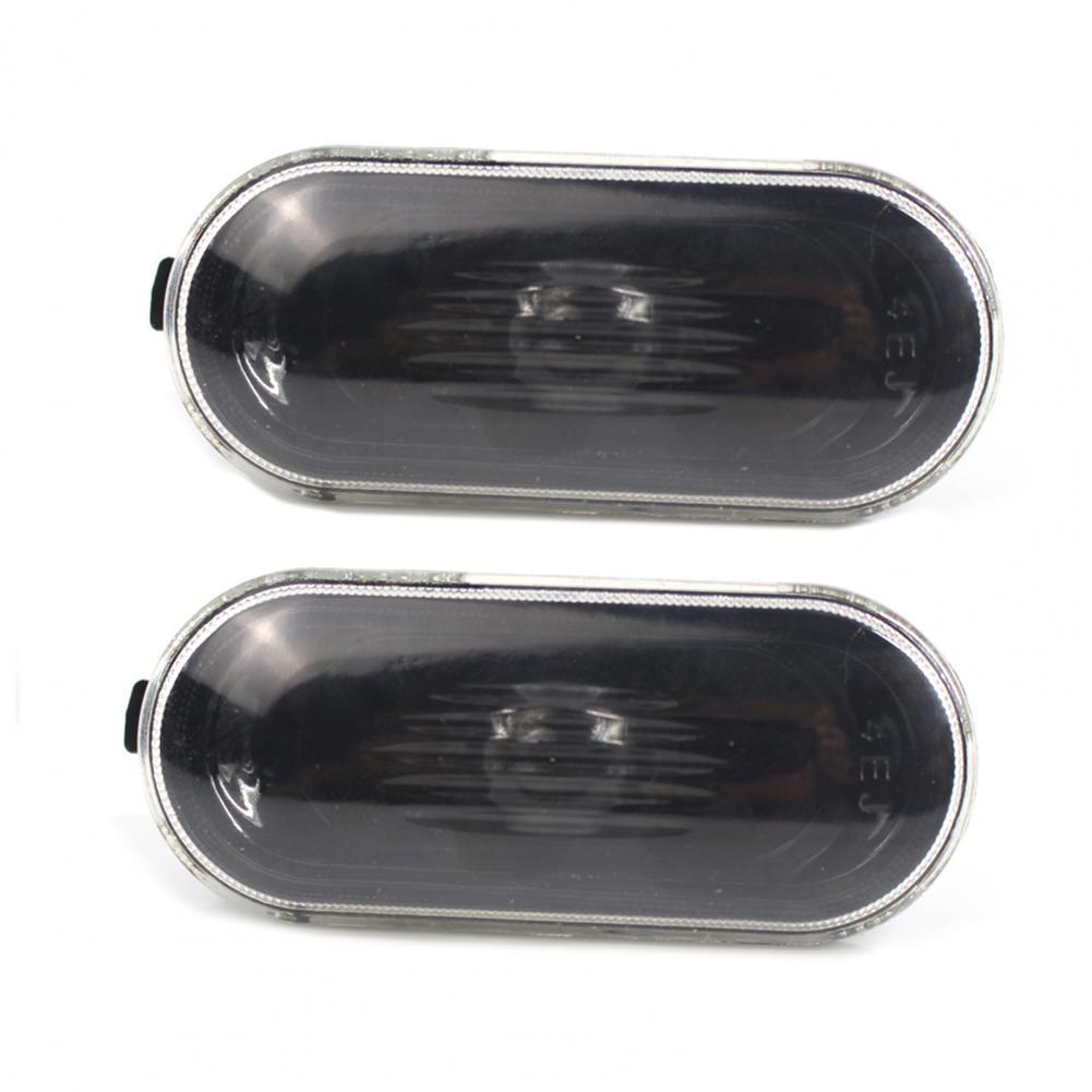 2Pcs Side Marker Light Housing Accessory Replacement Oval External Warning Clearance Lamp Bezel 1J0949117 for Bora Golf 4 MK4 98