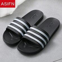 ASIFN/летние тапочки; простые мужские шлепанцы для ванной; нескользящие сандалии из ПВХ с мягкой подошвой; мужские Вьетнамки; женская обувь; Zapatos De Hombre