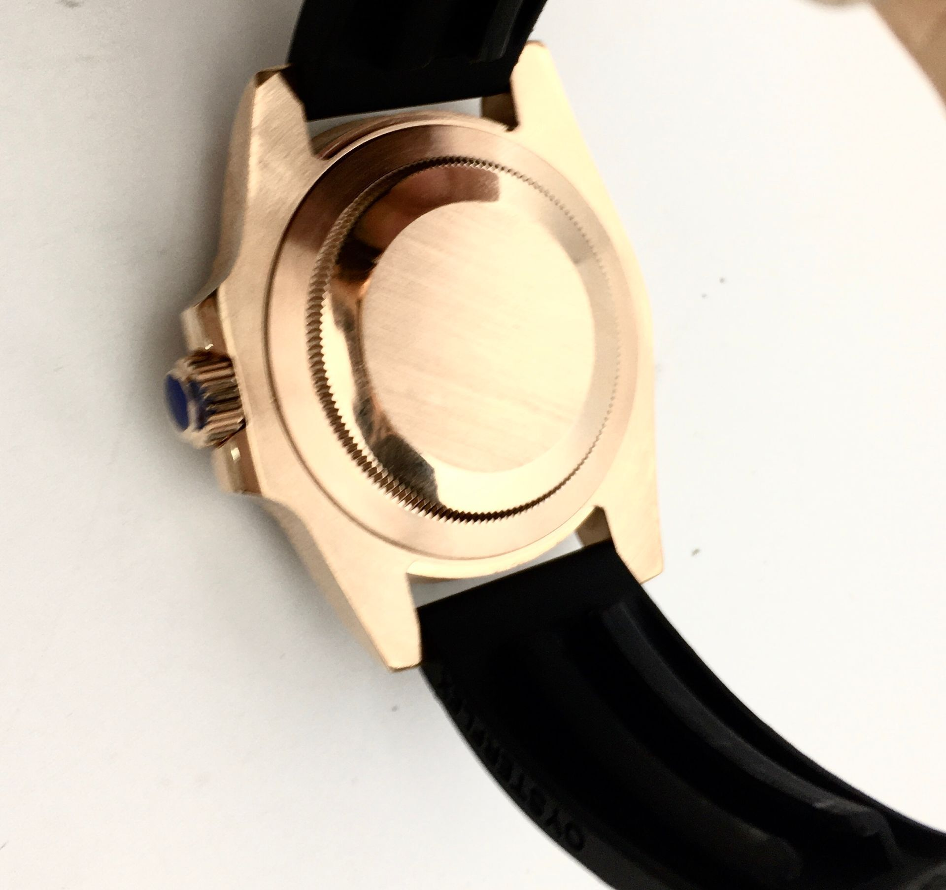 Fashion Casual 40MM Black Dial Date Luminous Rose Gold Case Men's Watch Luxury Automatic Mechanical Men's Watch Rubber Strap enlarge