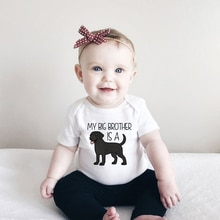 My Big Brother Is A Black Labrador Cute Baby Bodysuit Funny Dog Lover Baby Clothes Toddler Newborn 0